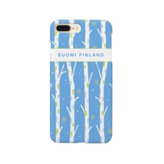 フィンランドの白樺(skyblue)  Smartphone cases
