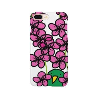 梅とトリ Smartphone cases