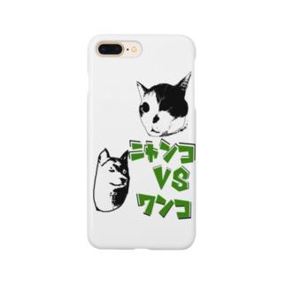 ニャンコVSワンコ Smartphone cases