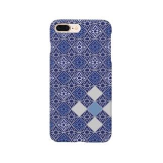 ひし形 青 Smartphone cases