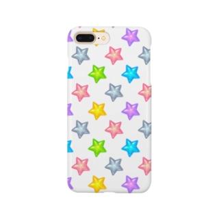 ☆カラフルつやつや星柄☆ Smartphone cases