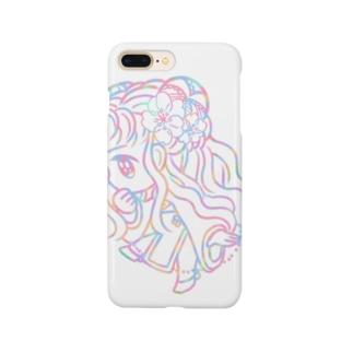 パステルチャイナ服の女の子 Smartphone cases