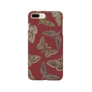 欧州の蛾(赤) Smartphone cases