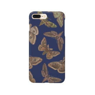 英国の蛾(青) Smartphone cases