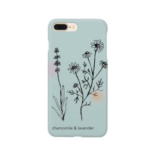 カモミール&ラベンダー Smartphone cases