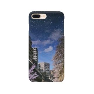 桜降る川空へ。 Smartphone cases