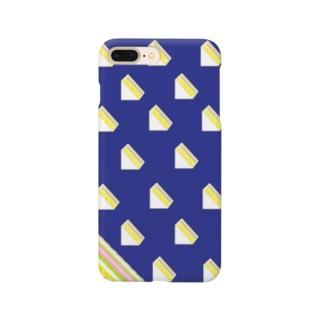サンドイッチ 青 Smartphone cases