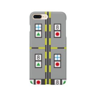 モーキャプ(マーカー_グレー) Smartphone cases