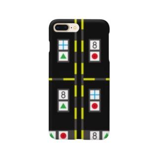 モーキャプ(マーカー_ブラック) Smartphone cases
