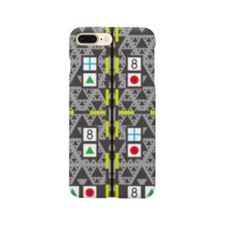 モーキャプ(フラクタル×マーカー) Smartphone cases