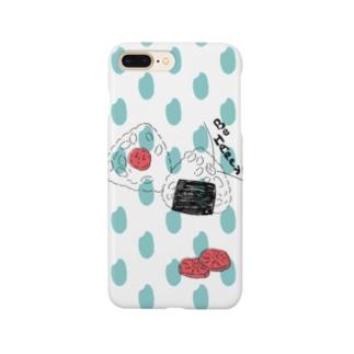 おにぎり お米ドット Smartphone cases
