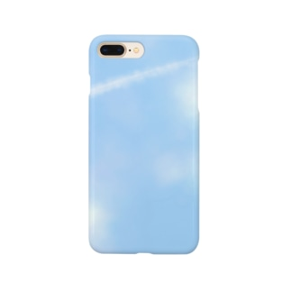 空と飛行機雲 Smartphone cases