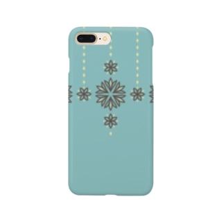 d*ropsのstripe garland Smartphone cases