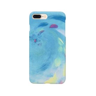 油絵「上昇」 Smartphone cases