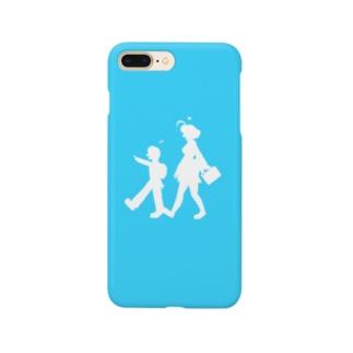 もみじ+はやと(ブルー) Smartphone cases