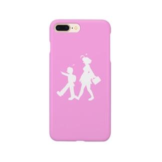 もみじ+はやと(ピンク) Smartphone cases