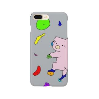 のぼるブタ Smartphone cases