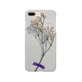 カスミソウのドライフラワー Smartphone cases