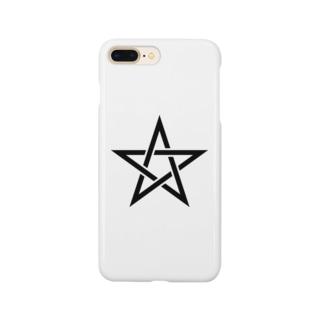 五芒星(黒) Smartphone cases