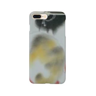 懐き猫 大正画 Smartphone cases
