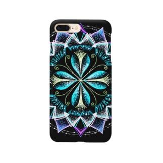静謐﹣点描曼荼羅 Smartphone cases