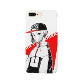 キャップを被った女の子 Smartphone cases