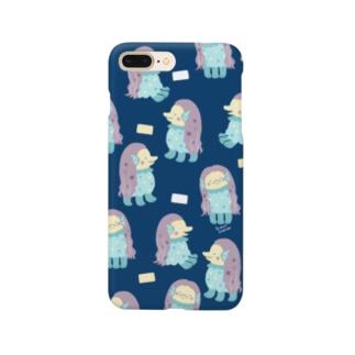 アマビエ様ネイビー Smartphone cases