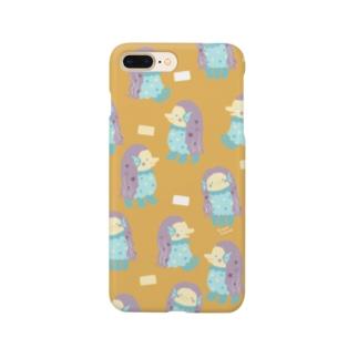 アマビエ様オレンジ Smartphone cases