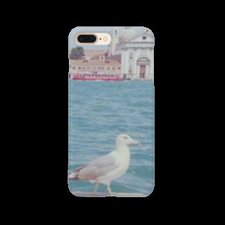 手作り作家*かめさん、兎にゃかなわないのベネチアのかもめ Smartphone cases