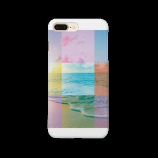 MARCHの浜辺のコラージュ Smartphone cases