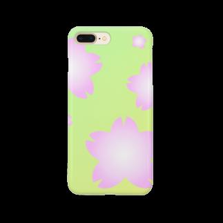 しる猫☆ミ雑貨店の桜 Smartphone cases