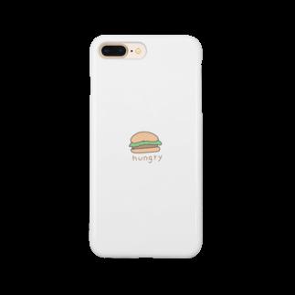 Torokuma.cのハンバーガー お腹空いた Smartphone cases