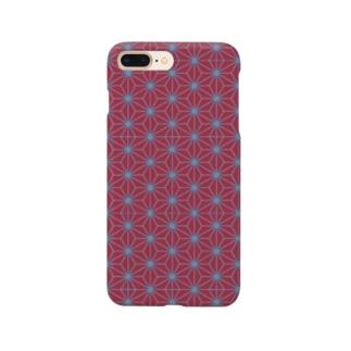 麻の葉 Smartphone cases