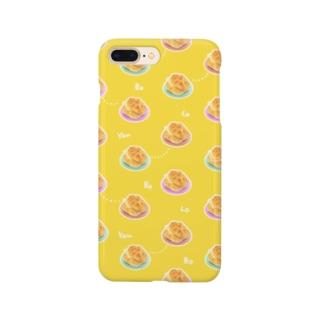 モモイロショップの香港フード、パイナップルパン菠蘿油とミルクティー奶茶 Smartphone cases