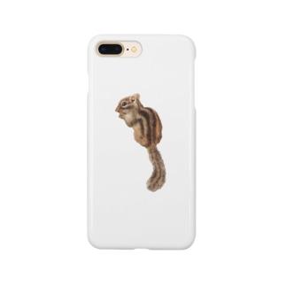 羊毛フェルトのふわふわシマリスちゃん Smartphone cases