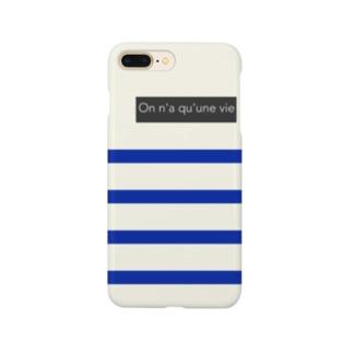 パネルボーダー【バックアイボリー】 Smartphone cases