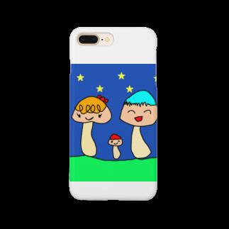 raraのきのこファミリー Smartphone cases
