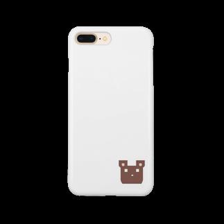 ninhamuのかくかくくま Smartphone cases