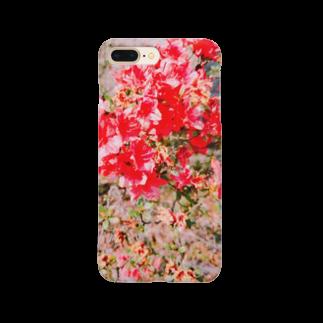 ねむいさかなのお店の枯れ赤ツツジ Smartphone cases