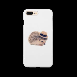 mochi__spopのハリネズミ 可愛い Smartphone cases