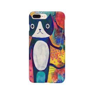 風船とネコ Smartphone cases