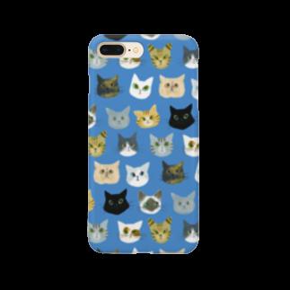 CafeあんぶれらしっぽのCafeあんぶれらしっぽ 12匹のネコ Smartphone cases