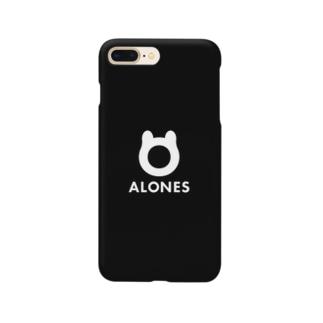ALONESブラック スマホケース Smartphone cases