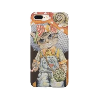 雨と猫 Smartphone cases