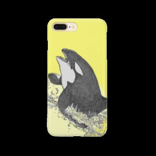 海のほとりの雑貨屋さんのシャチ Smartphone cases