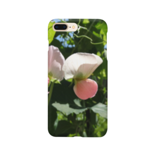 FUCHSGOLDの日本の野菜:エンドウの花 Pea flower Smartphone cases