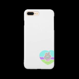 GREENHOUSEのもじもじうさぎ Smartphone cases