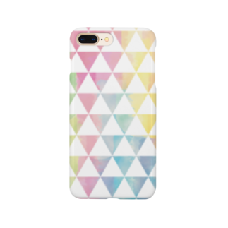 ぴーこっくのカラフルサンカク Smartphone cases