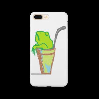 アメリカンベースのソフトドリンク・カエル Smartphone cases