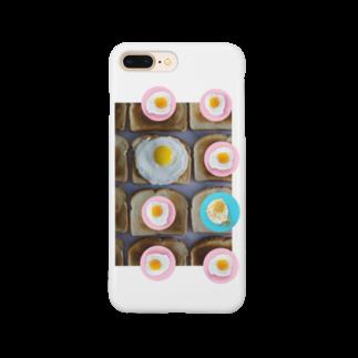 人生やり直しの目玉焼きとパン Smartphone cases